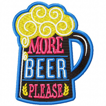 More Beer Please - Craft Beer Hobby Collection #03 - Machine Embroidery Design