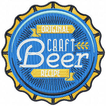 Original Craft Beer Recipe - Craft Beer Hobby Collection #02 - Machine Embroidery Design