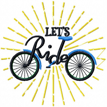 Let's Ride - Cycling Hobby Collection #01 - Machine Embroidery Design