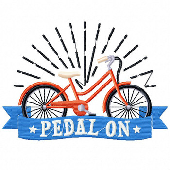 Pedal ON - Cycling Hobby Collection #03 - Machine Embroidery Design