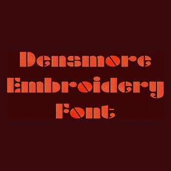 1970's Font - Densmore Machine Embroidery Font Now Includes BX Format!