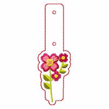Flower Embellishments 06 Key Fobs - In The Hoop Machine Embroidery Design