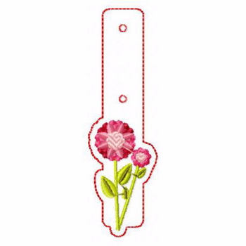 Flower Embellishments 08 Key Fobs - In The Hoop Machine Embroidery Design
