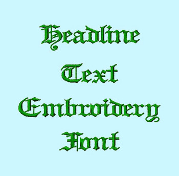 Headline Text Machine Embroidery Font Product Pic