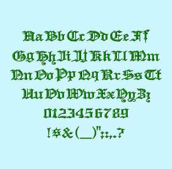 Headline Text Machine Embroidery Font Full Alpha