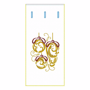 ITH Abstract Christmas Wine Bag 01 - In The Hoop Machine Embroidery Design