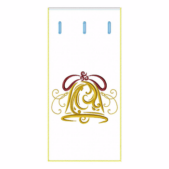 ITH Abstract Christmas Wine Bag 02 - In The Hoop Machine Embroidery Design