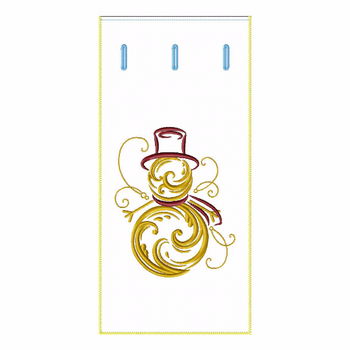 ITH Abstract Christmas Wine Bag 06 - In The Hoop Machine Embroidery Design