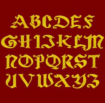 Magic School One Machine Embroidery Font Upper