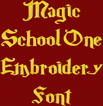 Magic School One Machine Embroidery Font Product Pic