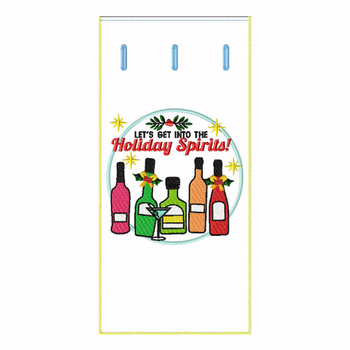 ITH Christmas Humor Wine Bag 08 - In The Hoop Machine Embroidery Design