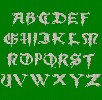 Magic School Two Machine Embroidery Font Upper