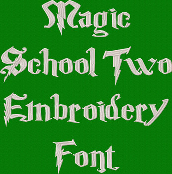 Magic School Two Machine Embroidery Font Product Pic