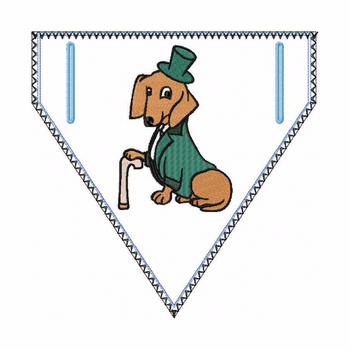 Dachshund Doggie Bandana 03 - In The Hoop Machine Embroidery Design