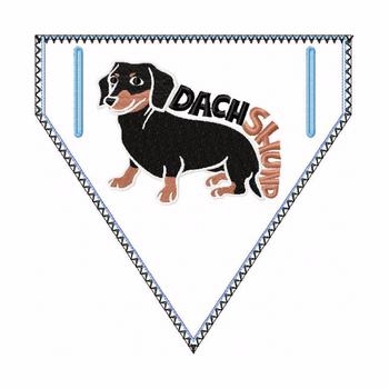 Dachshund Doggie Bandana 05 - In The Hoop Machine Embroidery Design