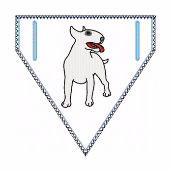 Bull Terrier Doggie Bandana 03 - In The Hoop Machine Embroidery Design