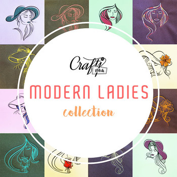 All 6 Modern Ladies TwinPacks! - Modern Ladies Full Collection Machine Embroidery Designs