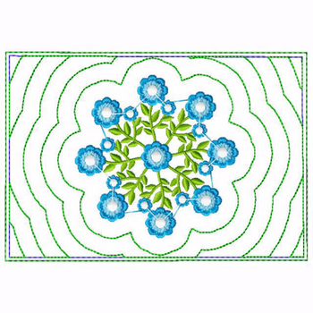 Circle of Flower Small Money Purse 02 - In The Hoop Machine Embroidery Design
