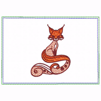 Ornament Animal Fox Small Money Purse - In The Hoop Machine Embroidery Design