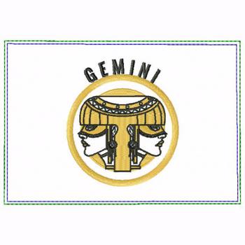 Gemini Zodiac Small Money Purse - In The Hoop Machine Embroidery Design