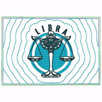 Libra Zodiac Small Money Purse - In The Hoop Machine Embroidery Design