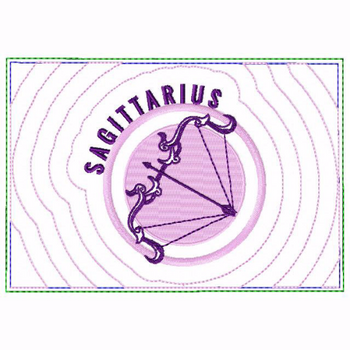 Sagittarius Zodiac Small Money Purse - In The Hoop Machine Embroidery Design