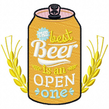The Best Beer is the OPEN One - Craft Beer Hobby Collection #04 - Machine Embroidery Design