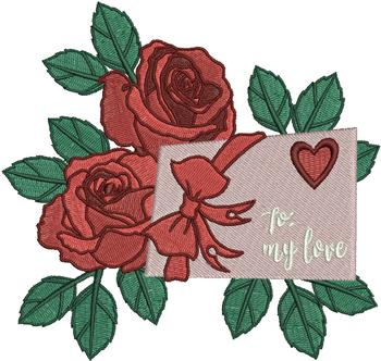 Valentine Love Letter Collection #04 - Machine Embroidery Design
