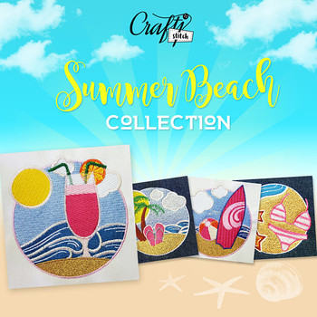 Summer Designs Collection 12 Machine Embroidery Designs