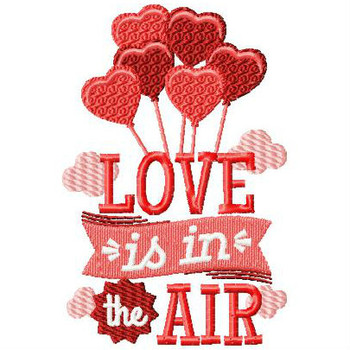 Love is in the Air - Valentines Hearts Typography Collection #02 Machine Embroidery Design