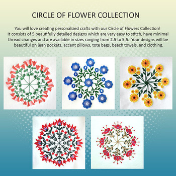 Circle of Flowers Full Collection 5 Machine Embroidery Designs