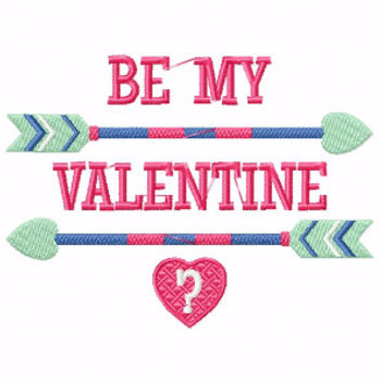 Be My Valentine - Machine Embroidery Design - General Valentine #05