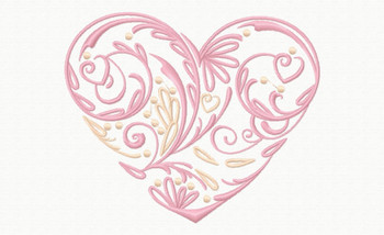 Abstract Heart Swirls #04 Machine Embroidery Design