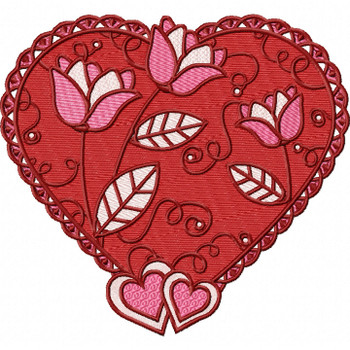 Valentines Hearts Collection #04 Machine Embroidery Design