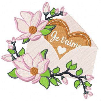 Valentine Love Letter Collection #07 - Machine Embroidery Design