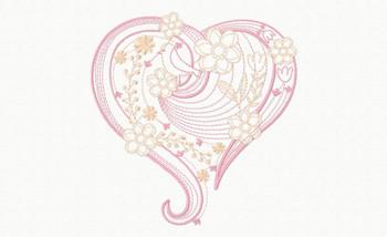 Abstract Heart Swirls #07 Machine Embroidery Design