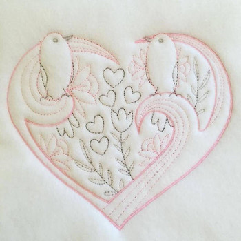 Abstract Heart Swirls #12 Machine Embroidery Design