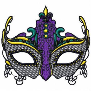 Masquerade - Mardi Gras Collection #01 Machine Embroidery Design