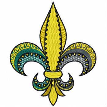 Fleur-de-lis - Mardi Gras Collection #02 Machine Embroidery Design