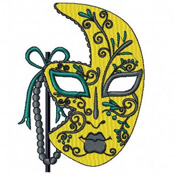 Yellow Masquerade - Mardi Gras Collection #03 Machine Embroidery Design