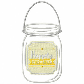 Happily Ever After Jar - Rustic Wedding Collection #14 Machine Embroidery Design