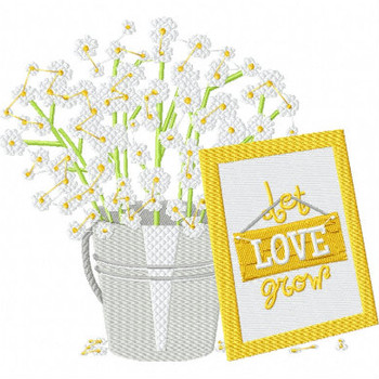 Let Love Grow - Rustic Wedding Collection #17 Machine Embroidery Design