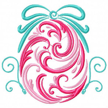 Pink Easter Egg - Abstract Easter Collection #01 Machine Embroidery Design