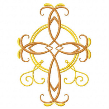Easter Crucifix - Abstract Easter Collection #03 Machine Embroidery Design