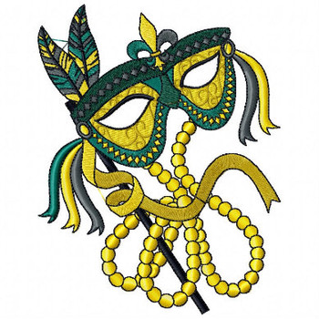 Feather Masquerade - Mardi Gras Easter Collection #04 Machine Embroidery Design