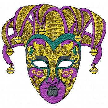 Jester Masquerade Masks - Mardi Gras Easter Collection #05 Machine Embroidery Designn #04 Machine Embroidery Design