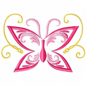 Easter Butterfly - Abstract Easter Collection #09 Machine Embroidery Design