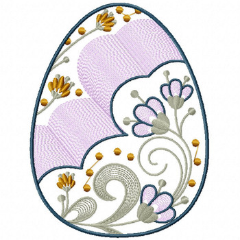 Easter Egg Collection #03 Machine Embroidery Design