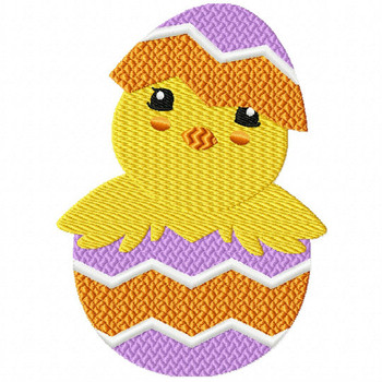 Easter Chick Collection #05 Machine Embroidery Design