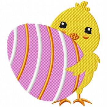 Easter Chick Collection #06 Machine Embroidery Design
